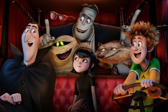 Dracula and his friends in Hotel Transylvania 2, opening this weekend.